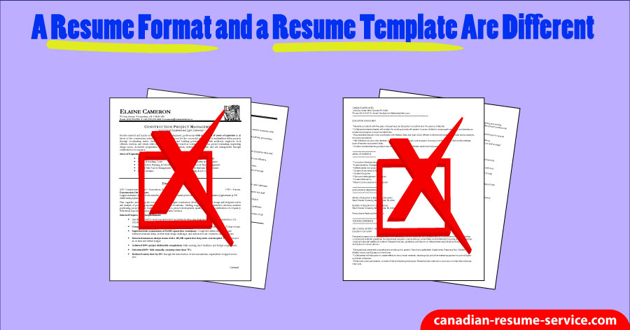 A Resume Format And A Resume Template Are Different - different resume format