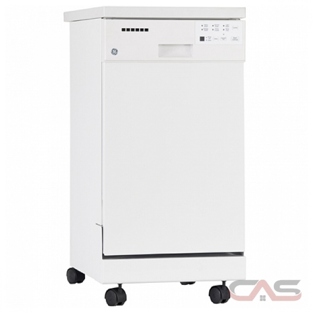 18 Portable Dishwasher Canada Ge Gsc1800vww Portable Dishwasher 18 Exterior Width 6 Wash Cycles Stainless Steel Interior 2 Loading Racks Full Console 57 Decibel Level