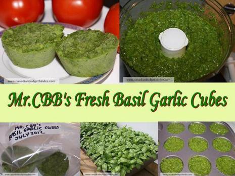 Mr.CBB's Fresh Basil Garlic Cubes