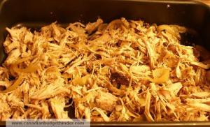 Shredded pulled Pork