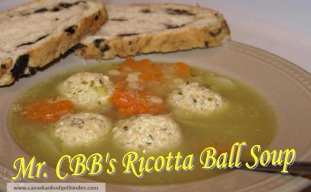Mr.CBB's Ricotta Ball Soup