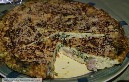 Rapini Pasta Frittata