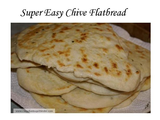 Super Easy Chive Flatbread