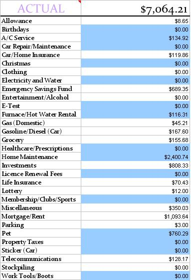 Bust Our Budget-May 2013 Budget Update #5 Summer Expenses - list of expenses