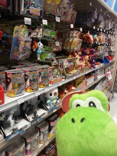 toys on the shelf at the store