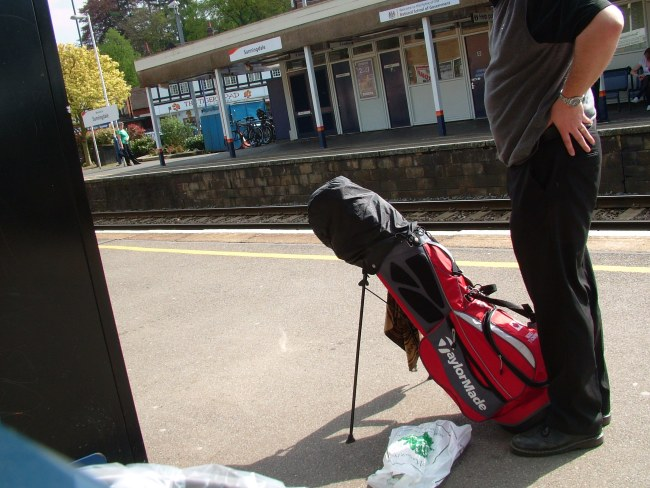 Have clubs, will travel: Traveling in and around London, England by train is relatively straight forward.