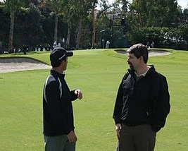Don't look back -- Mike Weir and design partner Ian Andrew at Riviera in 2009.