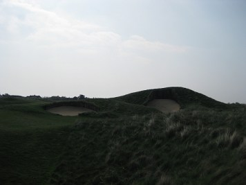 Nasty bunkers on the fourth hole at Royal St. George's.
