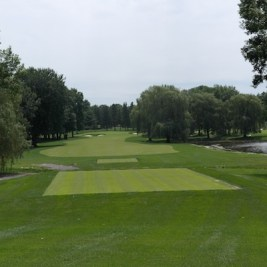 The 9th hole at Laval uses some of the terrain occupied by the former Watson nine.