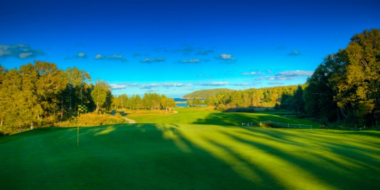From behind the green on the 4th hole at Highlands Links