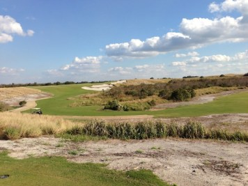 The ninth at Streamsong's Blue course (designed by Tom Doak) demonstrates the quality of the property and the design seen on both courses.
