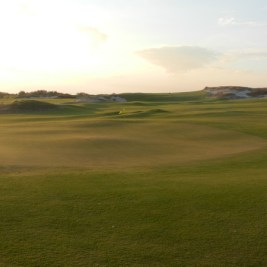 The closing hole at Tom Doak's course at Streamsong.