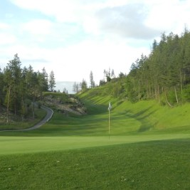 The 6th, a downhill par four with a tee shot that feels like you are firing down a canyon.