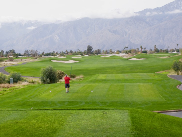 The Par 4 opening hole