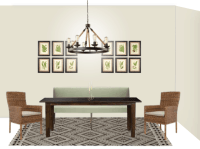 Maria's Rustic Modern Dining Room Design Board