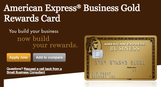 American Express Business Gold Canada 40 000 Points Signup
