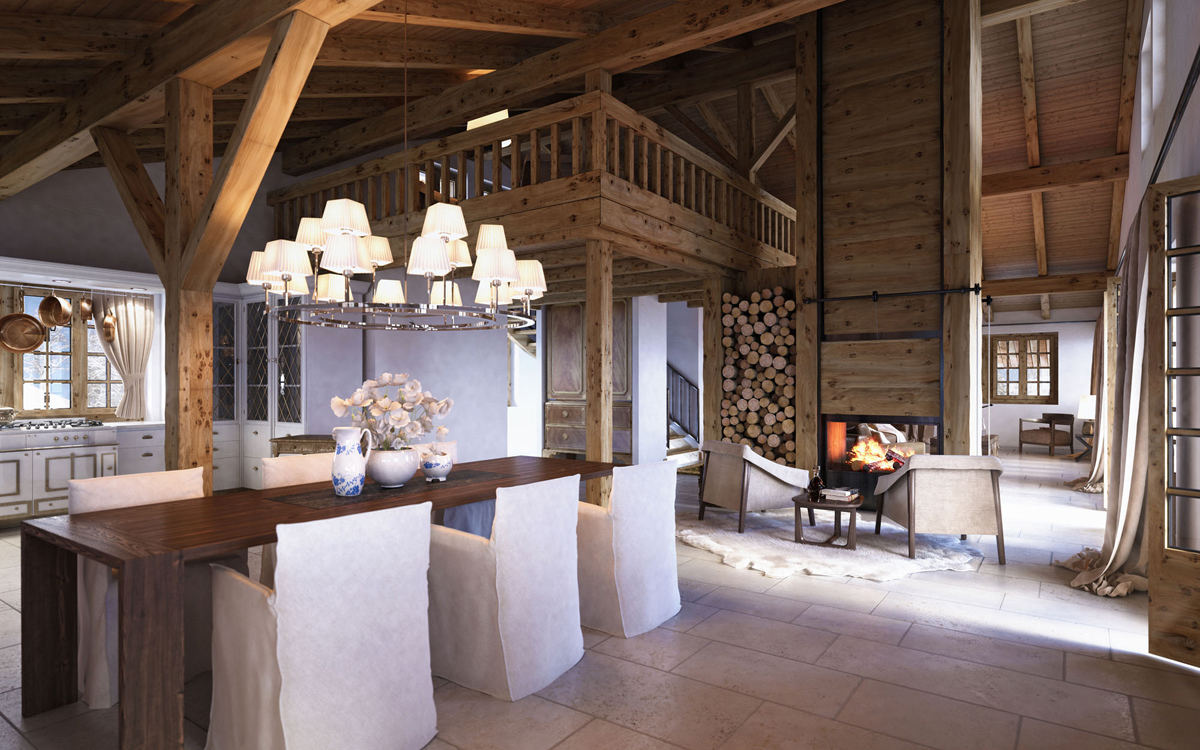 Wohnzimmertisch Holz Diy Rustic Interior Design Styles | Log Cabin, Lodge