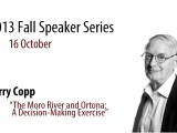LCMSDS Fall Speaker Series – 16 October – Terry Copp