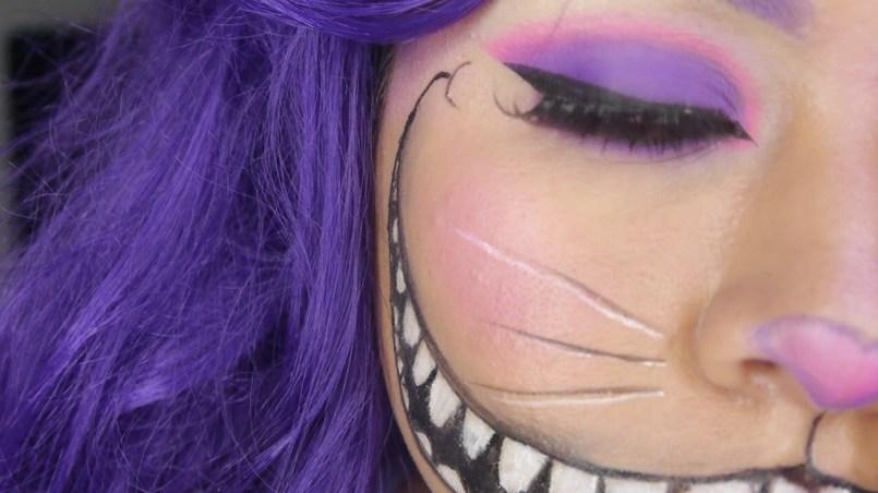 maquillaje de Gato de Chesire