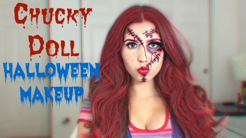 maquillaje de novia de Chucky
