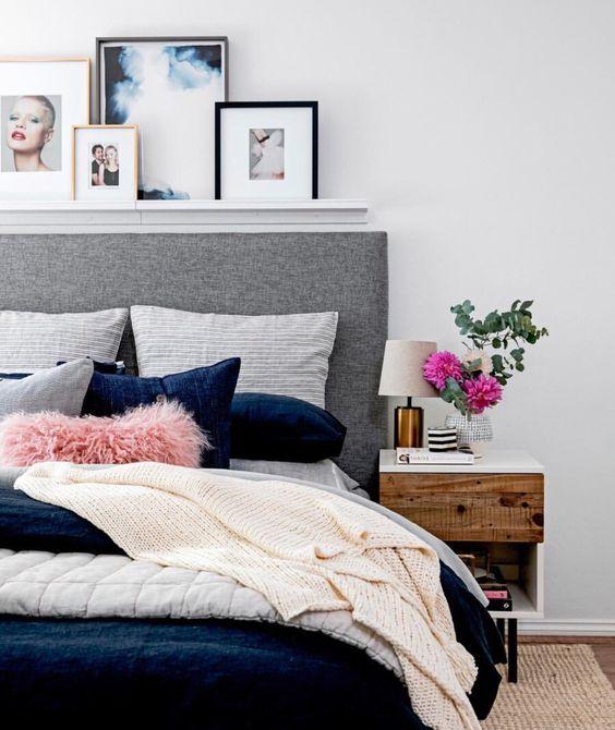 Decoraci n de cuartos en color gris ideas y consejos for Cuarto gris con blanco