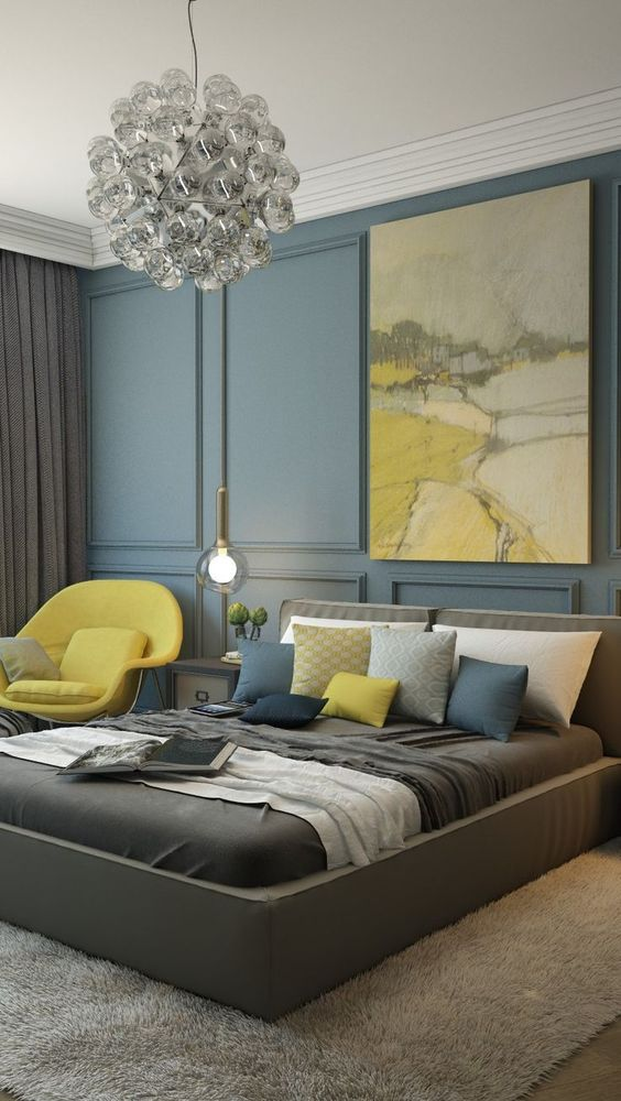 decoración de cuartos en color gris 7