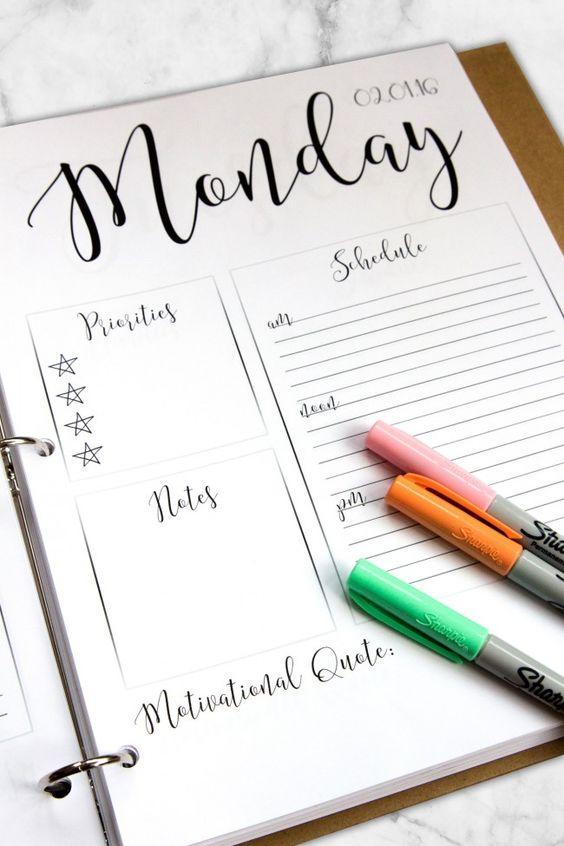 como organizar tu agenda 8