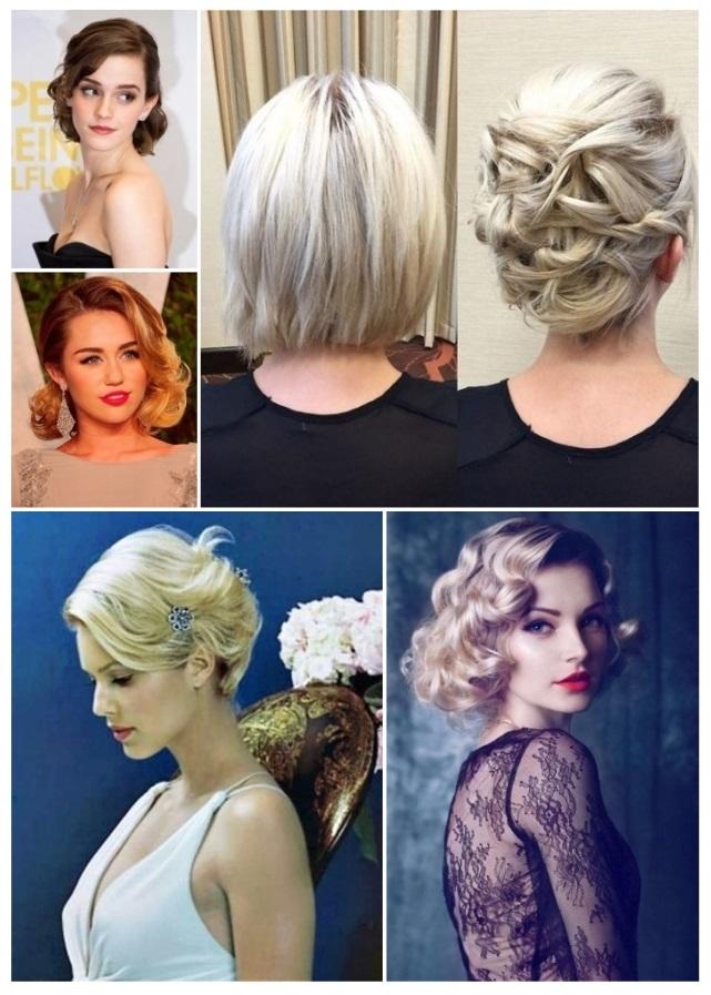 peinados para ir a una boda cabello corto