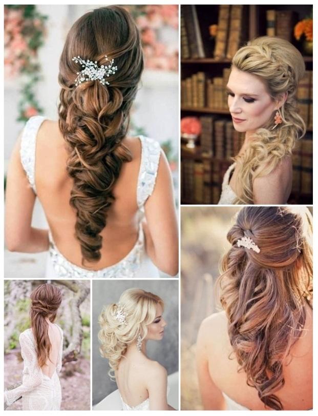 Peinados Altos Peinado Alto Moo Alto Rizado Con Flor Para Novia