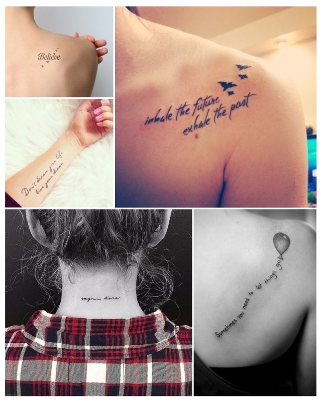Diseños de tatuajes para mujeres de frases