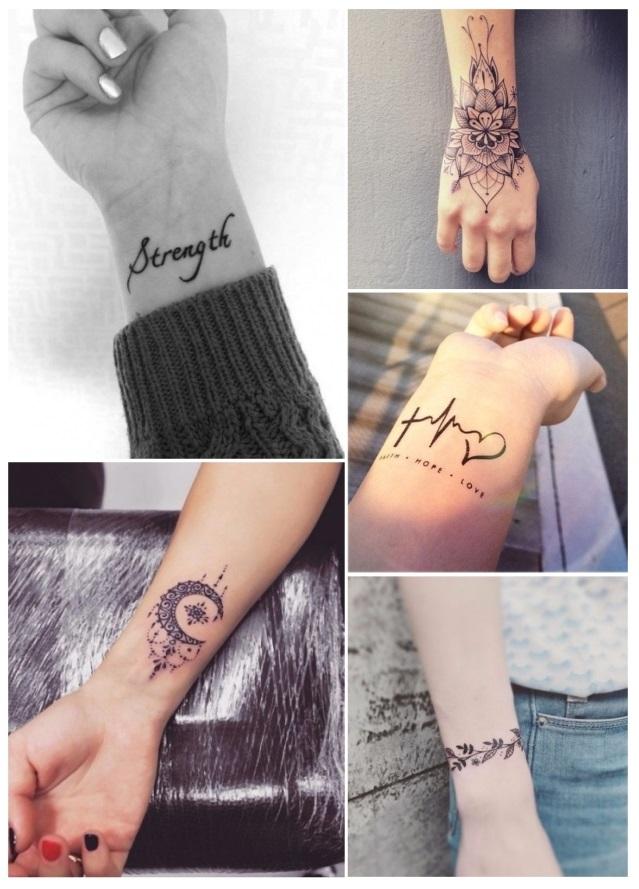 Diseños de tatuajes para mujeres en la muñeca