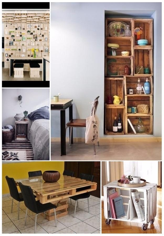 Como decorar tu casa con cajas de madera 30 ideas diy - Decorar reciclando muebles ...