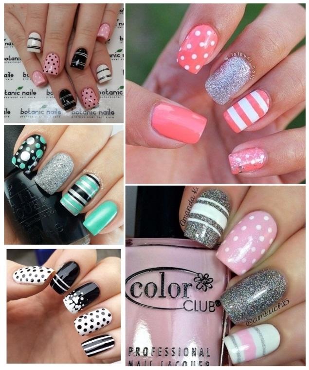 decoración de uñas con rayas 4