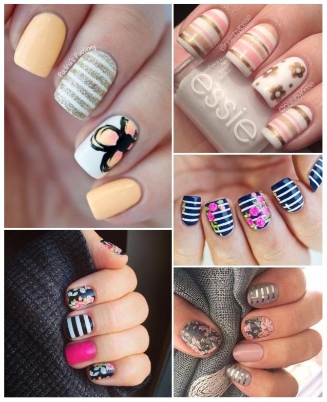 decoración de uñas con rayas 5