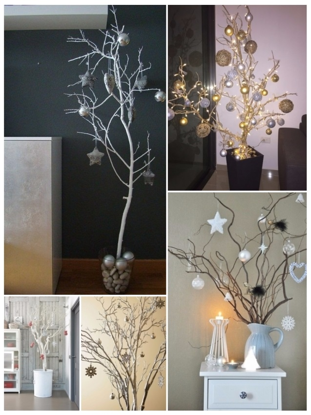 Decorar con ramas secas ideas r sticas y geniales para tu - Arboles de navidad decorados 2017 ...