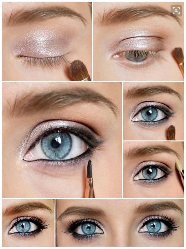 como maquillar ojos azules verdosos