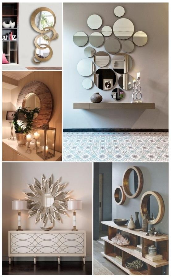 Decorar con espejos 40 preciosas ideas para tu hogar - Como colocar un espejo encima de un aparador ...