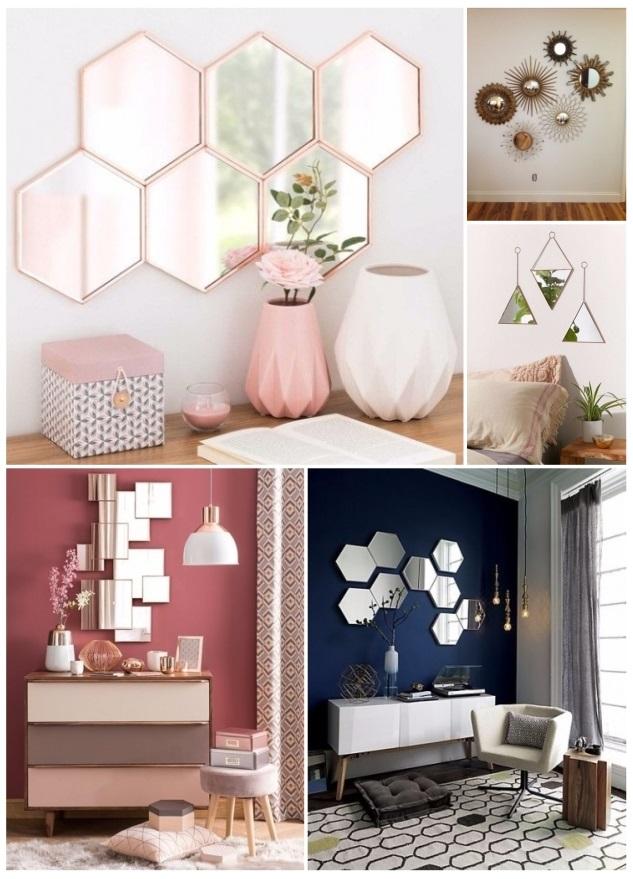 como decorar con pedazos de espejos - Decoracion Espejos