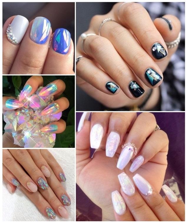 aplicacion de uñas de cristal