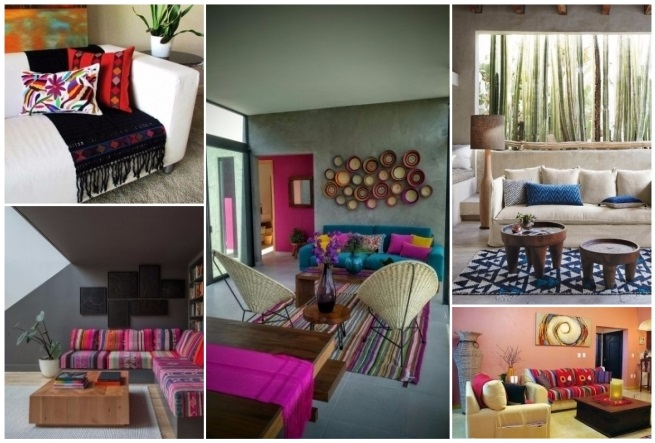Decoraci n estilo mexicano 50 ideas para decorar tu hogar for Muebles estilo contemporaneo moderno