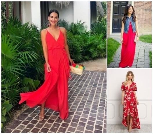 como combinar un vestido rojo formal