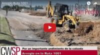 La Secretaría de Obras Públicas comenzó la reparación de una porción del pavimento en cercanías con el cruce con el camino Crucero General Belgrano que había sufrido un peligroso hundimiento.