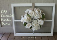 Vintage Window Frame And Wreath - Canary Street Crafts