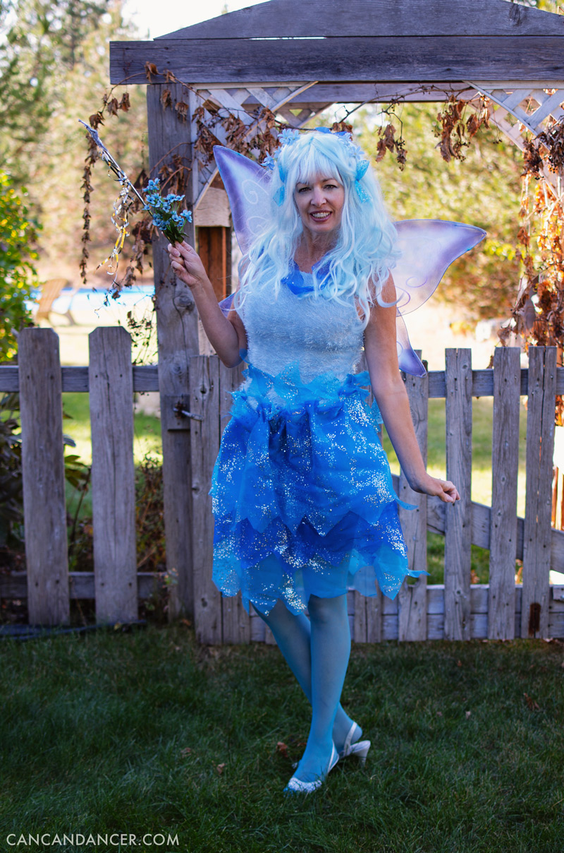 Diy Halloween Costume 4 Blue Fairy Can Can Dancer