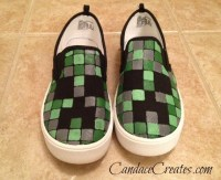 DIY Minecraft Shoes | Candace Playforth