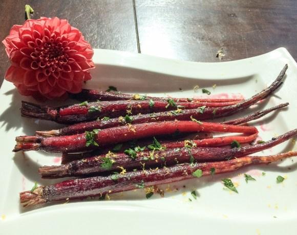 Maple Roasted Purple Carrots