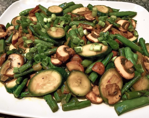 stir fry with vegetables, ginger and turmeric