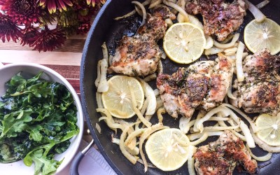 Lemon and Herb Pan-Seared Chicken Thighs