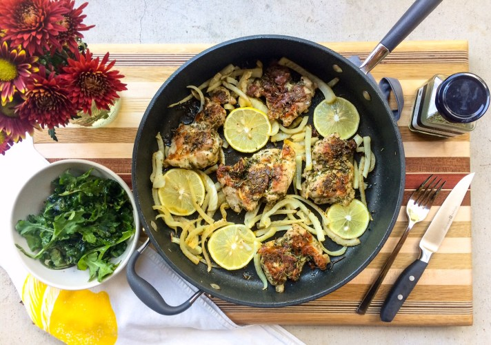 RECIPE: Lemon and Herb Pan-Seared Chicken Thighs | Paleo, Whole30, Keto | by Candace Kennedy