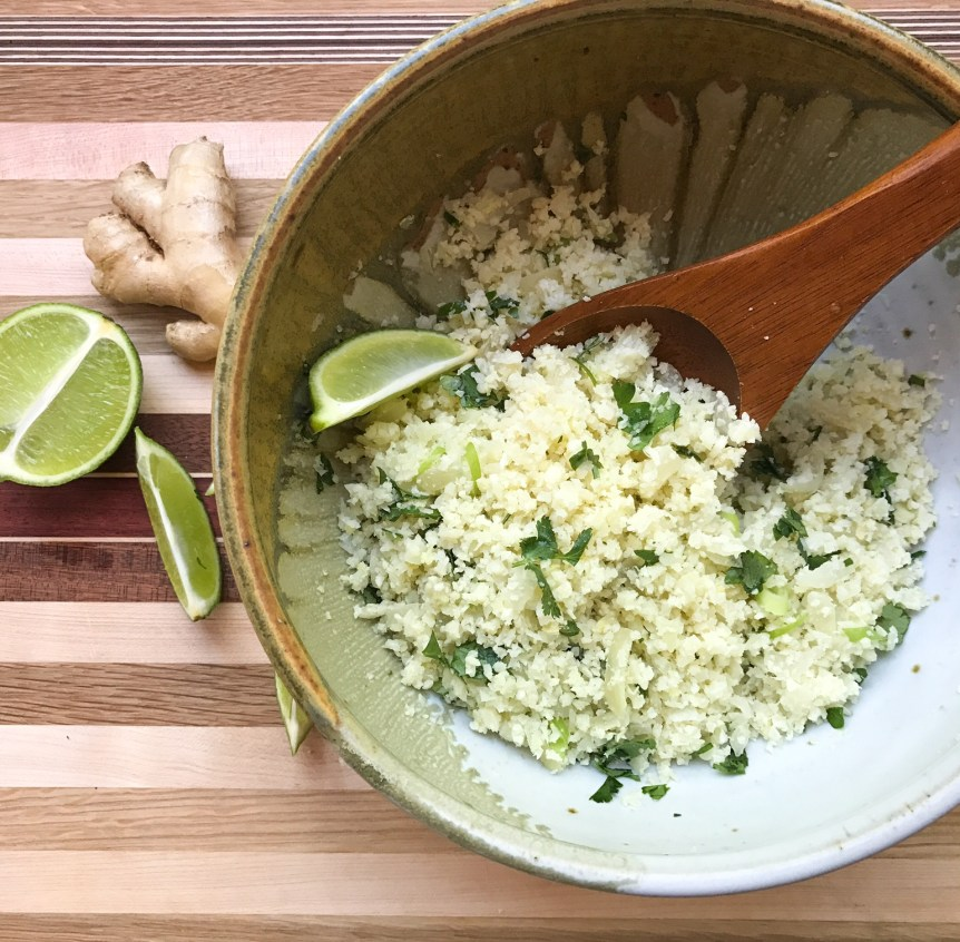RECIPE: Vietnamese-Inspired Riced Cauliflower with Ginger, Lime, and Mint | Paleo, Whole30, Low-Carb